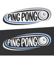 logos for ping pong vector image vector image