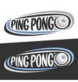 logos for ping pong vector image