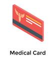 medical card vector image