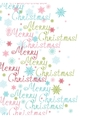 merry christmas text vertical frame seamless vector image
