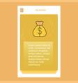 money bag mobile vertical banner design design vector image vector image
