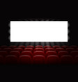 movie cinema with empty white screen for poster vector image