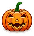 orange halloween pumpkin design vector image vector image