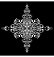 Ornamental white snowflake vector image vector image