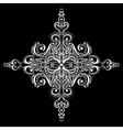 Ornamental white snowflake vector image