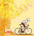 outdoor autumn bike riding vector image vector image