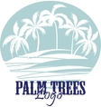 Palm trees on the Beach Logo Silhouette vector image vector image