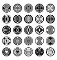 patterns in circle shape vector image