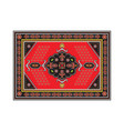 persian carpet with tribal geometrical ornamental vector image vector image