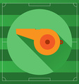 Referee Whistle round icon vector image