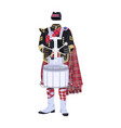 scottish traditional clothing with drum vector image