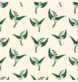 seamless pattern of lilies of the valley vector image vector image