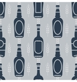 Seamless pattern with beer bottles vector image vector image