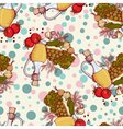 seamless pattern with vegetables and oil vector image vector image