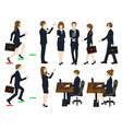 set cartoon business people no3 vector image vector image