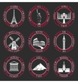 Set Icons of Travel and Sightseeing vector image vector image