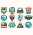 set sailing camp and summer camp patches vector image