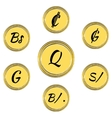 Set with South American Currency Symbols vector image vector image