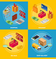 shopping concept big sale discount and shop vector image vector image