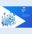 smart city modern flat design isometric vector image