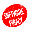 software piracy rubber stamp vector image vector image