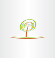 stylized green tree eco symbol design vector image vector image