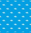 sun cap pattern seamless blue vector image vector image