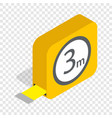 tape measure roulette isometric icon vector image
