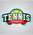 tennis logo badge design template vector image vector image