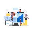 website creation process web page design vector image vector image