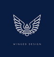 winged pencil vector image vector image
