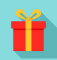 xmas gift box icon flat style vector image vector image
