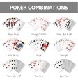 Poker combinations vector image