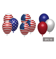 4 july Independence day balloons you can move it vector image vector image