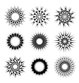 Abstract circular tattoos vector image