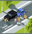 accidence road paramedic first aid help to people vector image