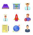 air company icons set cartoon style vector image vector image