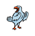 angry seagull mascot vector image vector image