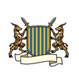 antelope heraldry in classic coat arms style vector image vector image