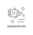 aquarium fish line icon aquarium fish vector image vector image