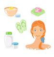 Bath and body care icon set vector image