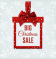 Big Christmas sale red square banner in form of vector image vector image