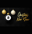 billiard merry christmas and happy new year vector image vector image