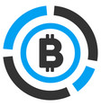 bitcoin circle diagram flat icon vector image vector image