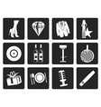 Black Luxury party and reception icons vector image vector image