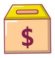box money icon cartoon style vector image vector image
