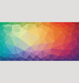 bright horizontal multicolor triangle background vector image vector image