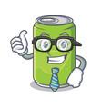businessman soft drink character cartoon vector image