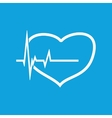 Cardiology icon 2 simple vector image vector image