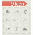 Carpenty icon set vector image vector image